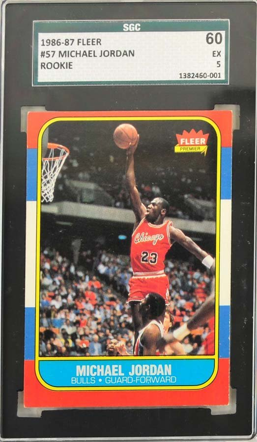 1986 Fleer Complete Set Jordan Graded 5