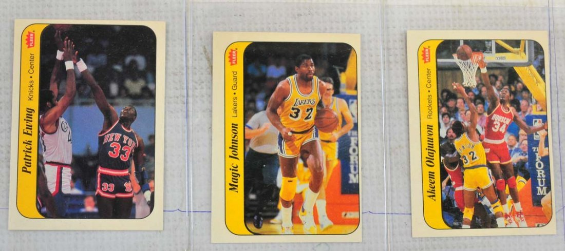 1986 Fleer Complete Set Jordan Graded 5 - 3