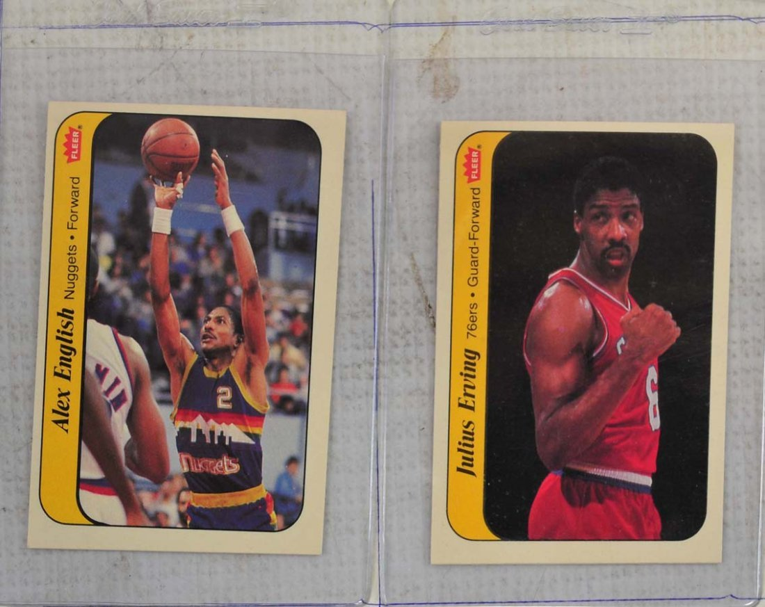 1986 Fleer Complete Set Jordan Graded 5 - 8