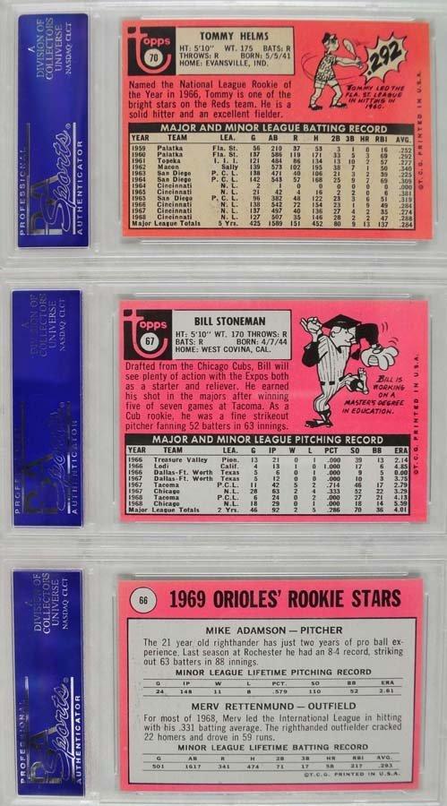 20 1969 Topps Baseball Cards PSA Graded 8 - 4