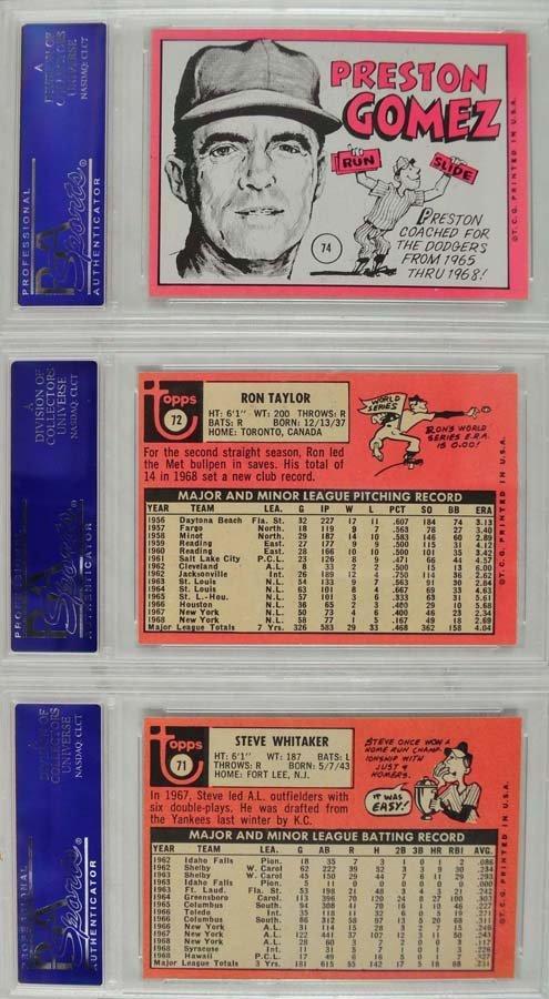20 1969 Topps Baseball Cards PSA Graded 8 - 6