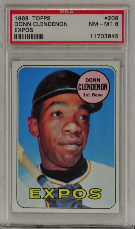 1969 Topps Donn Clendenon Expos PSA Graded 8