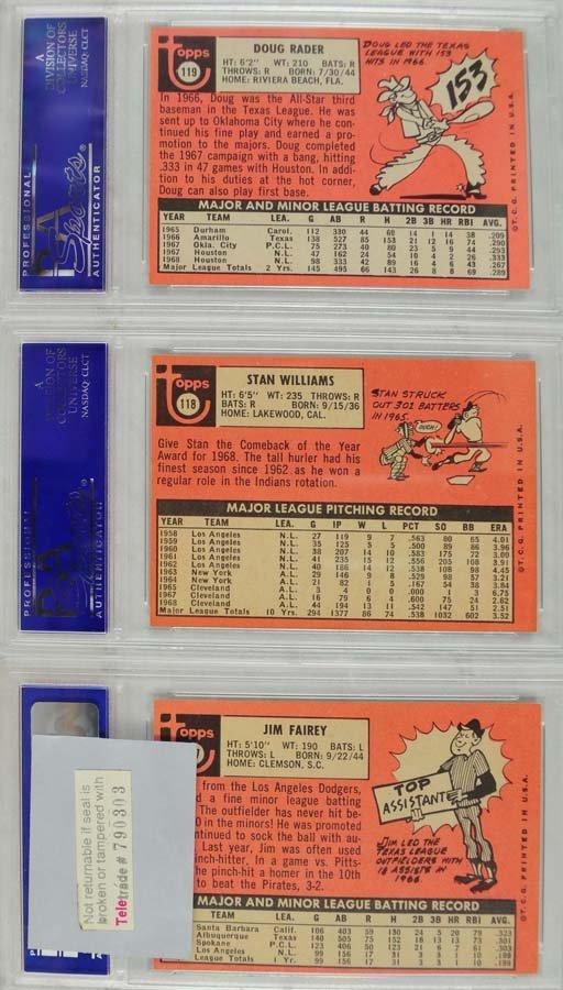 20 1969 Topps Baseball Cards PSA Graded 8 - 5