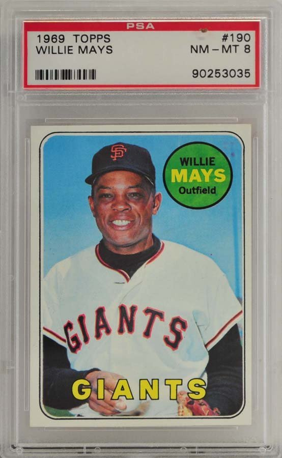 1969 Topps Willie Mays PSA Graded 8