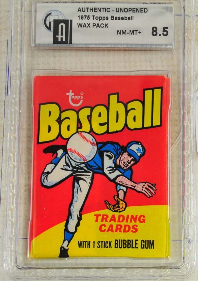 1975 Topps Unopened Graded Wax pack