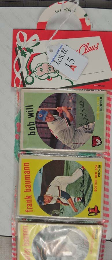 1959 Topps Christmas Rack pack - 2