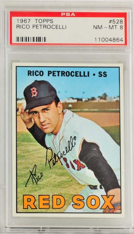 1967 Topps Rico Petrocelli PSA Graded  8