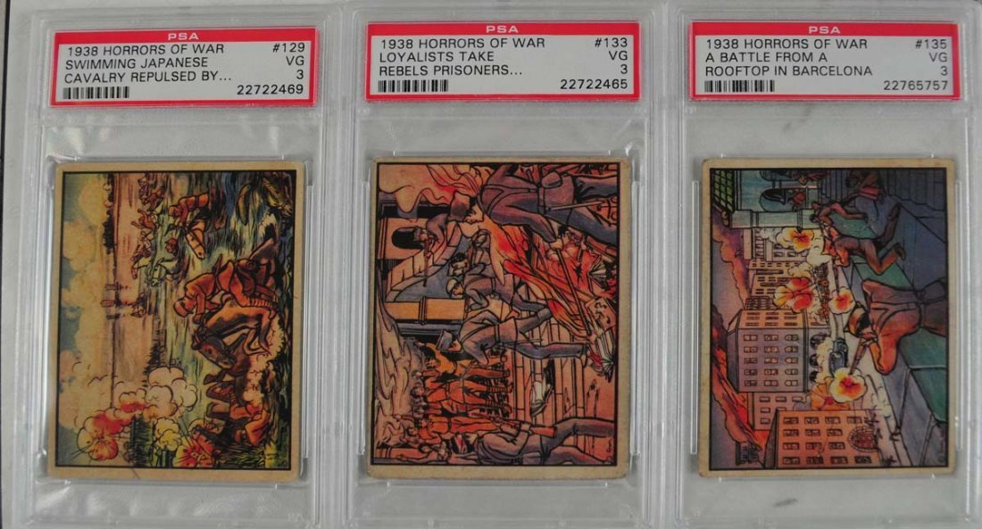 74 1938 Horrors of War Graded cards