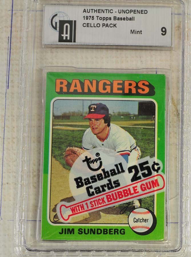 1975 Topps Gr aded Cello Pack