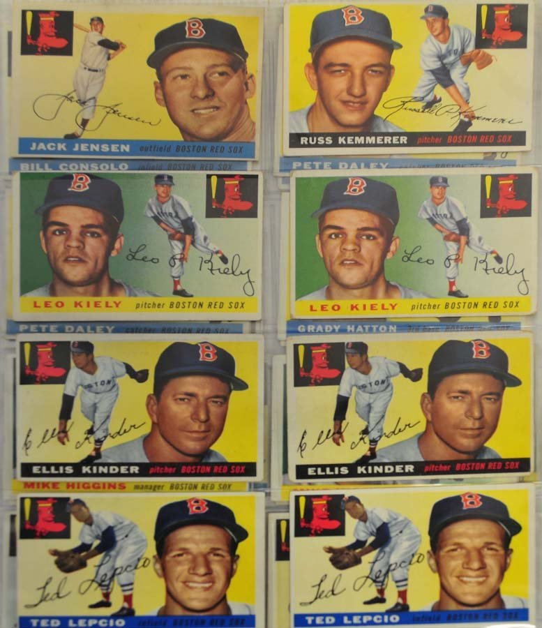 30 1955 Topps Red Sox Cards