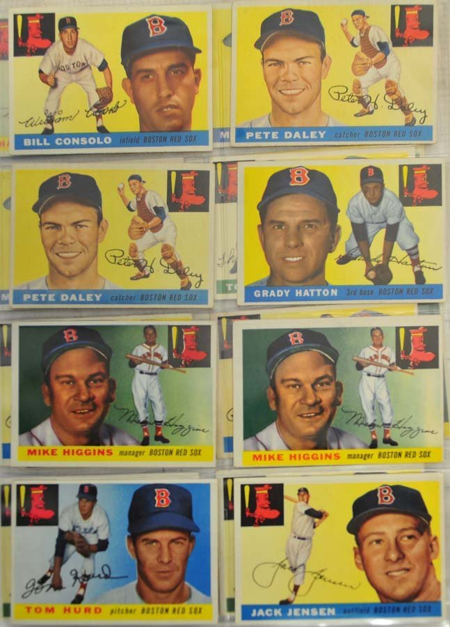 30 1955 Topps Red Sox Cards - 2