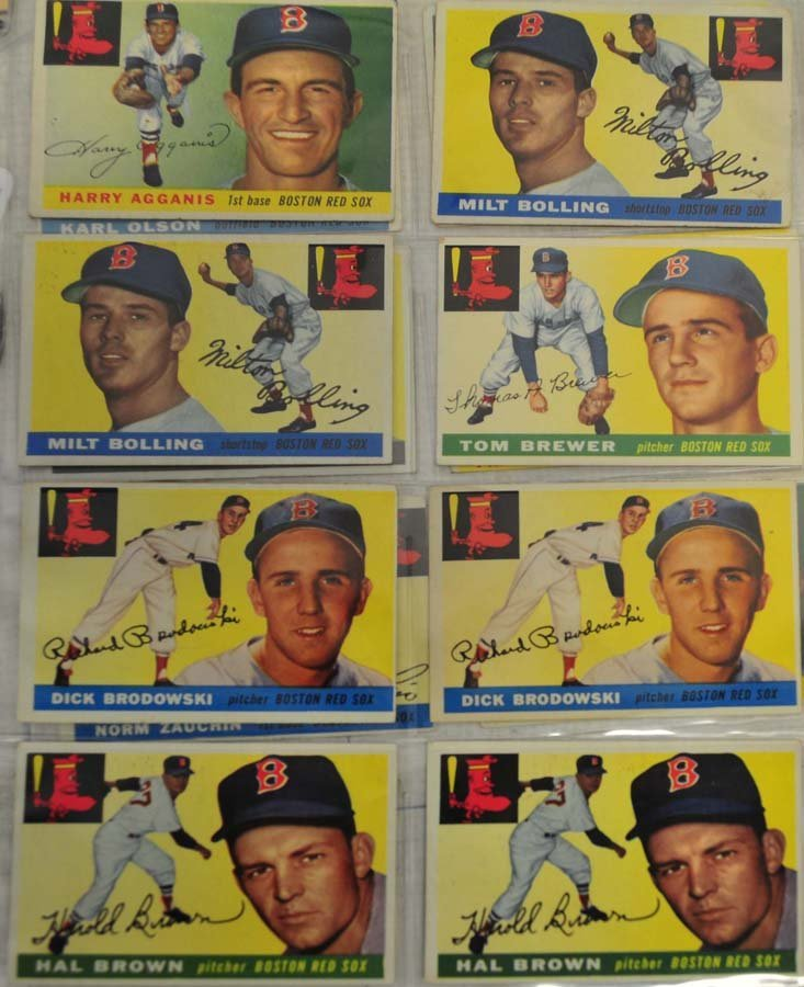 30 1955 Topps Red Sox Cards - 3