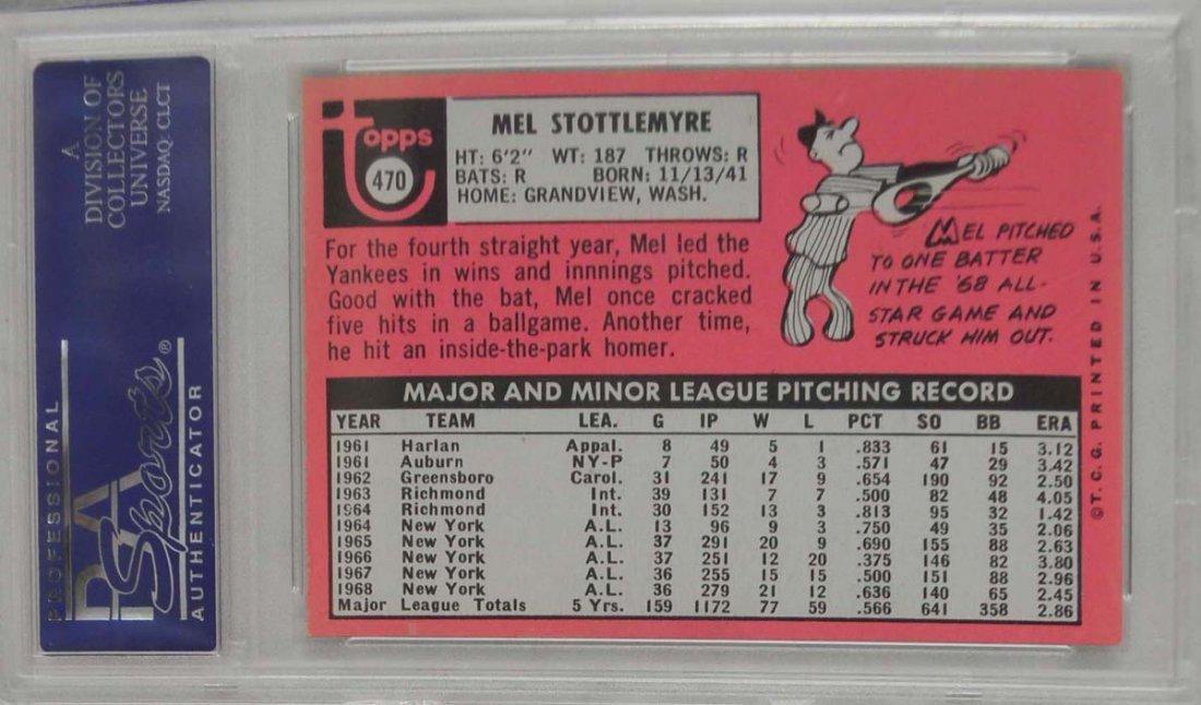 1969 Topps Mel Stottlemyre PSA 7 - 2