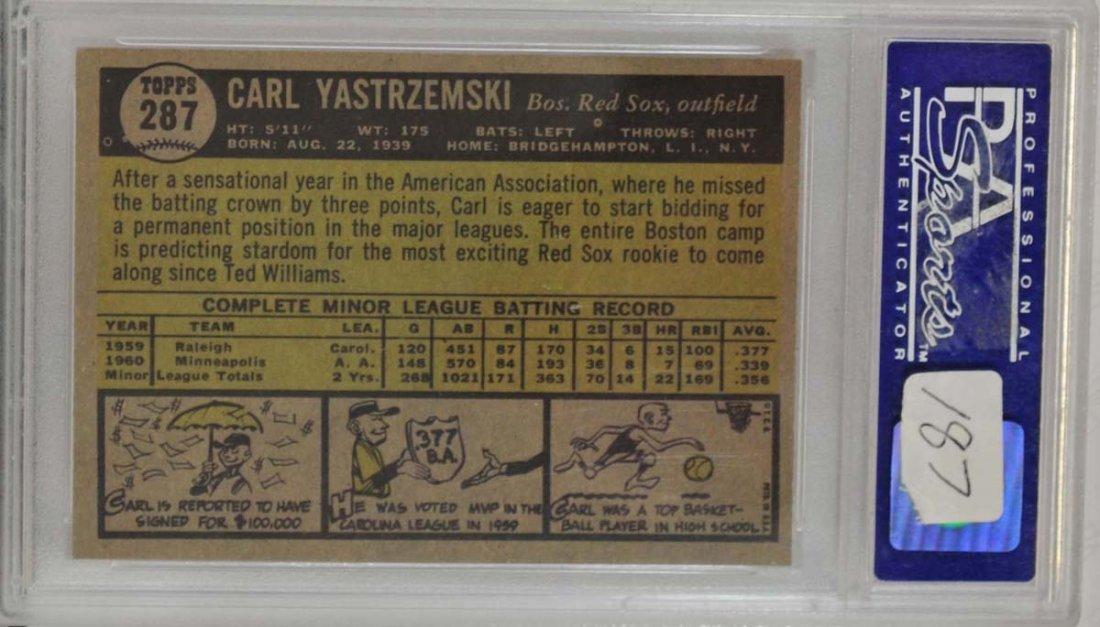 1961 Topps Carl Yastrzemski Star Rookie PSA 8 - 2