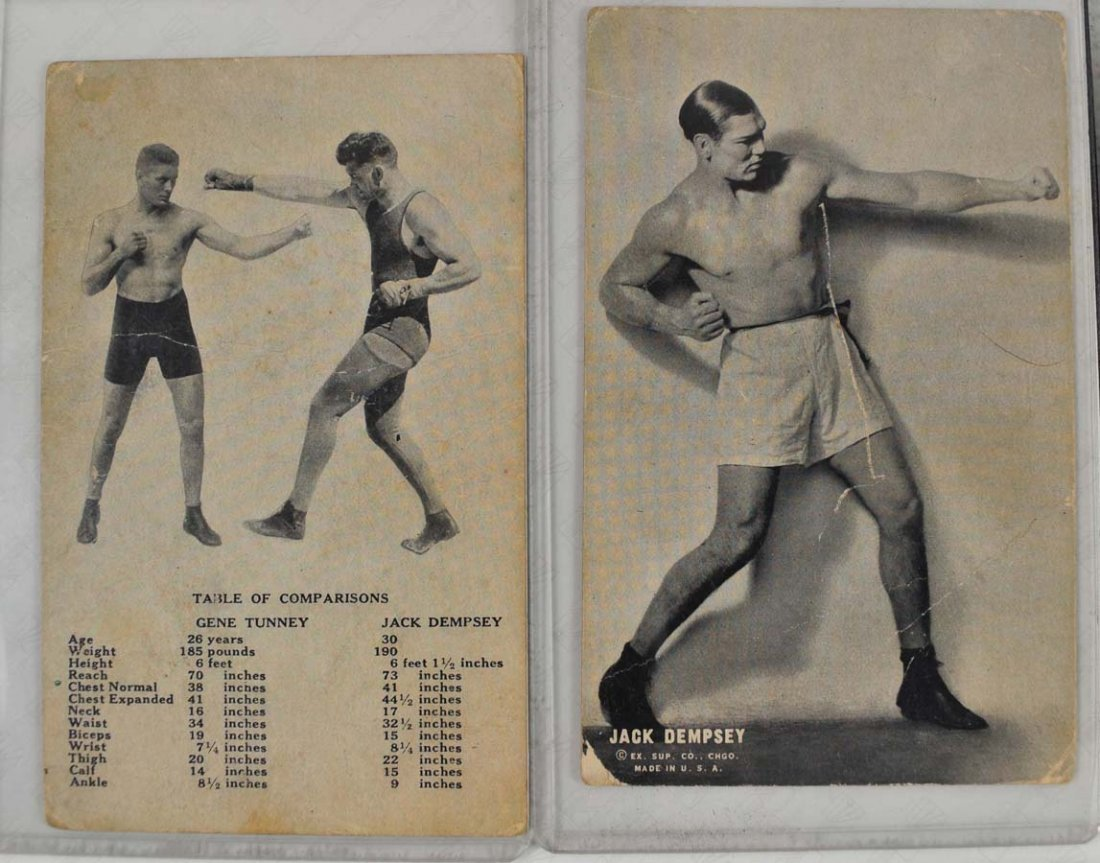 8 Ex Supply Company Boxing Exhibit Cards