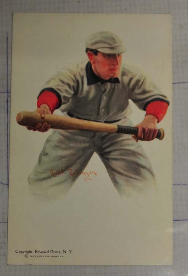 1912 Robert Robinson Nap Lajoie Postcard