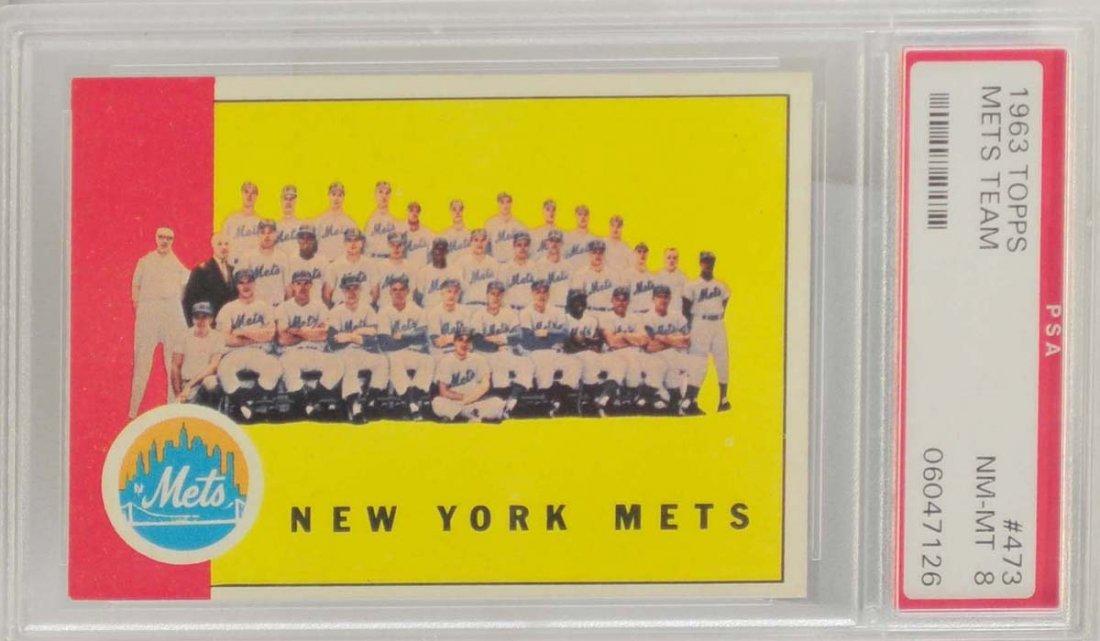 1963 Topps Mets Team PSA 8