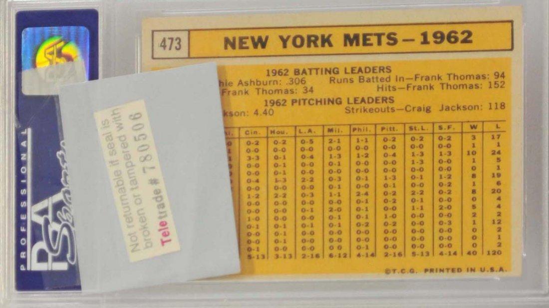 1963 Topps Mets Team PSA 8 - 2