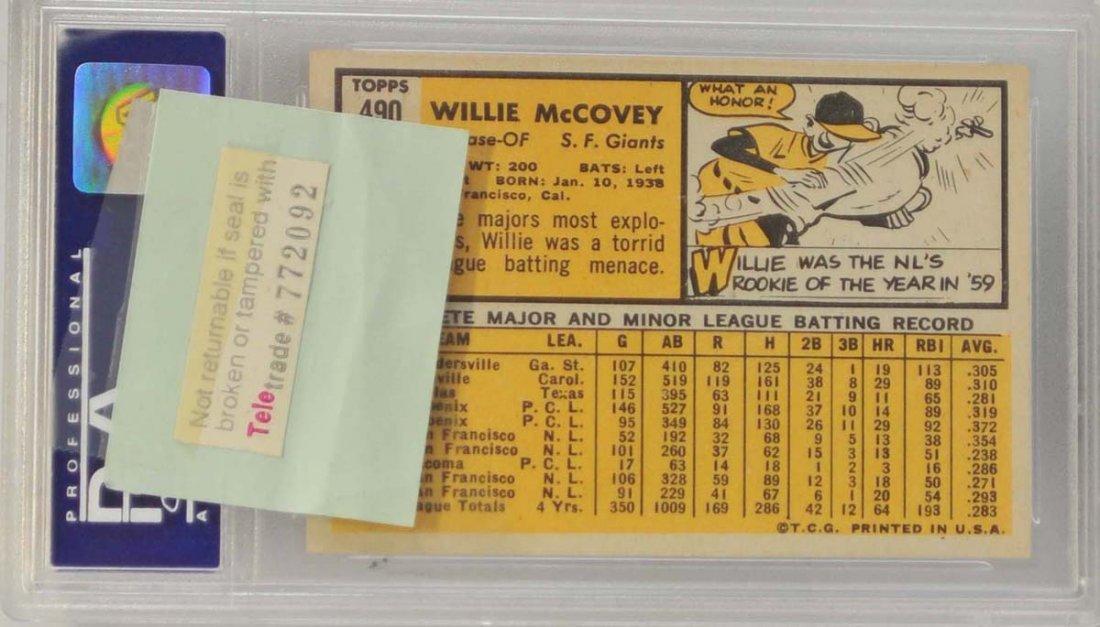1963 Topps Willie McCovey PSA 8 - 2