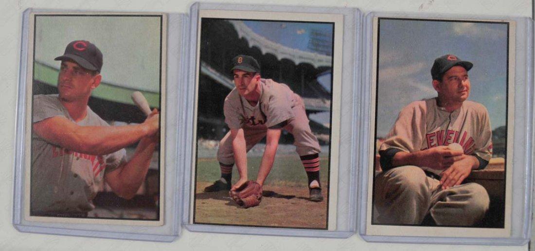 Three 1953 Bowman Color Baseball Cards