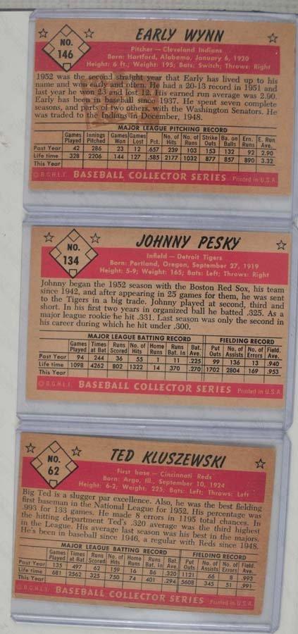 Three 1953 Bowman Color Baseball Cards - 2