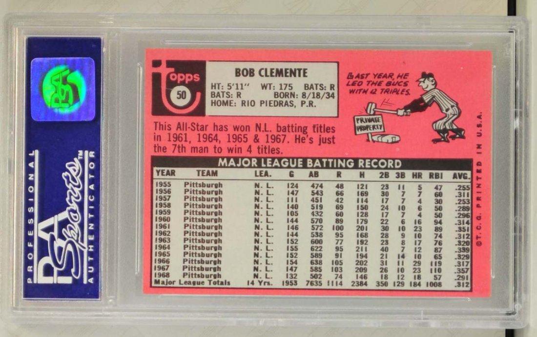 1969 Topps Roberto Clemente PSA Graded 8 - 2