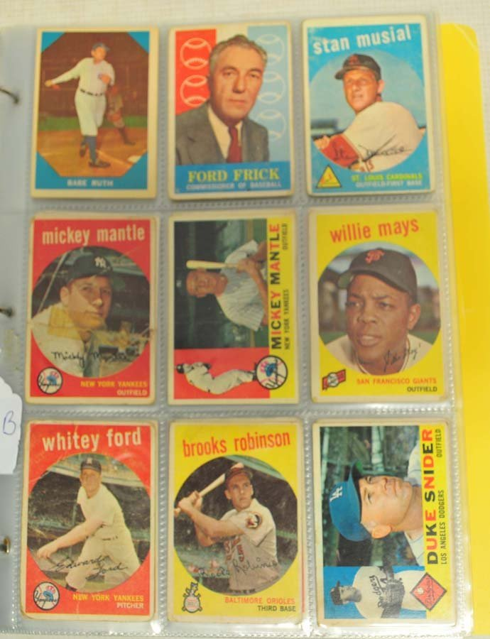 185 1959 and 1960 Topps and Fleer Baseball
