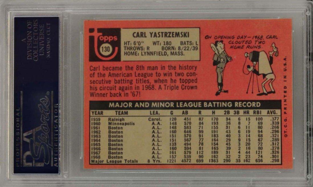1969 Topps Carl Yastrzemski PSA 8 - 2