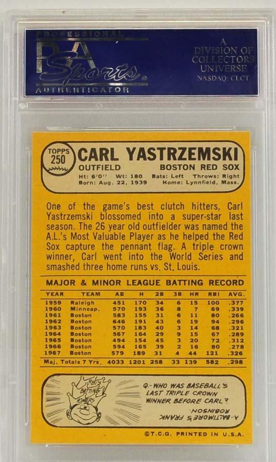 1968 Topps Carl Yastrzemski PSA 8 - 2