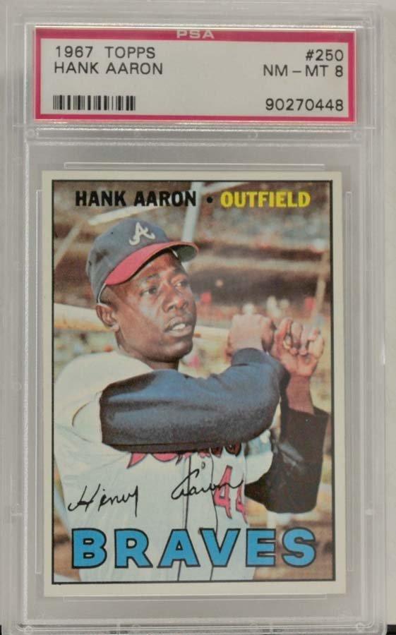 1967 Topps Hank Aaron PSA Graded 8