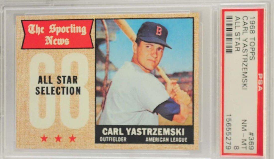 1968 Topps Carl Yastrzemski  All-Star PSA 8