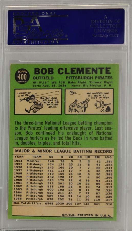 1967 Topps Roberto Clemente PSA 8 - 2