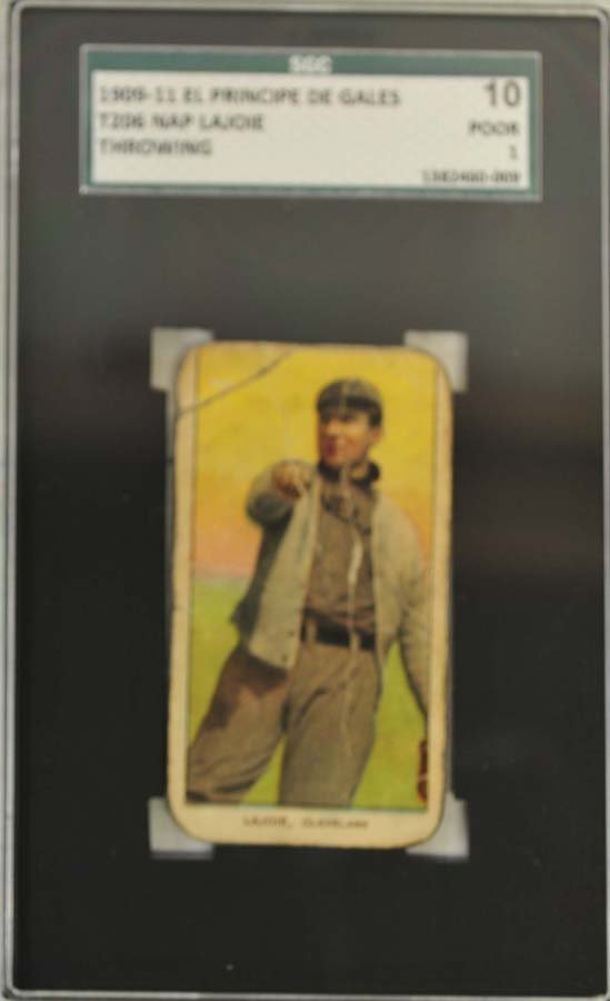 1909-11 T206 Nap Lajoie Throwing