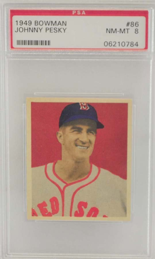 1949 Bowman Johnny Pesky PSA 8