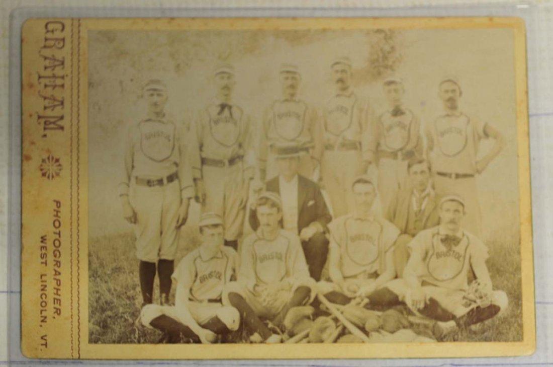 1890 Bristol Baseball Team Cabinet Photo