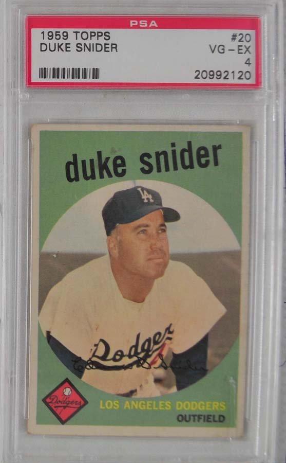1959 Topps Duke Snider PSA 4