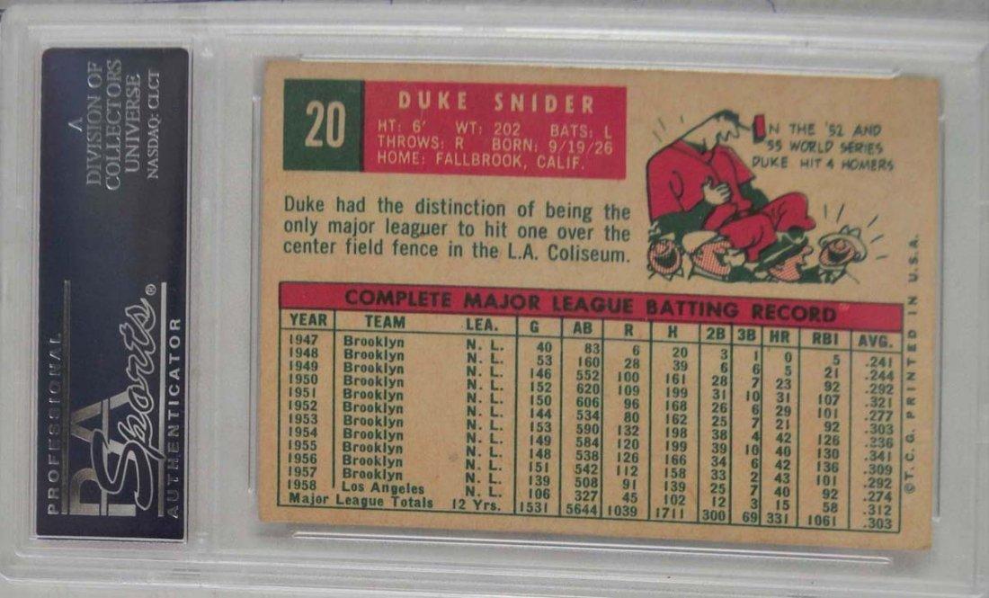 1959 Topps Duke Snider PSA 4 - 2
