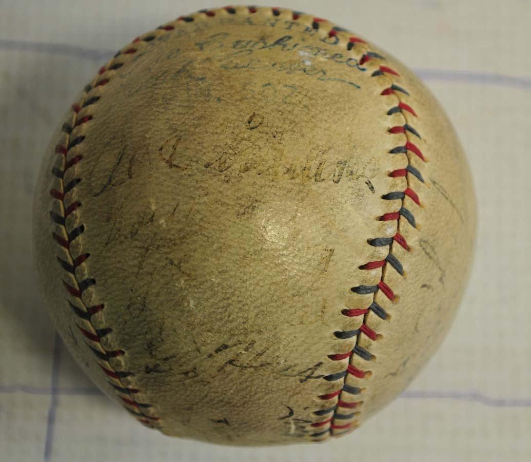 1929 Philadelphia World Champions Signed Baseball - 2