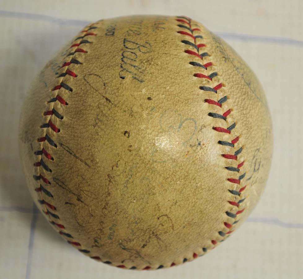 1929 Philadelphia World Champions Signed Baseball - 3