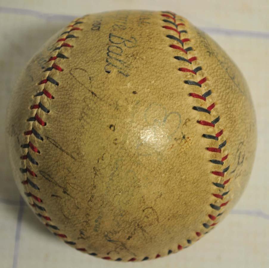 1929 Philadelphia World Champions Signed Baseball - 4