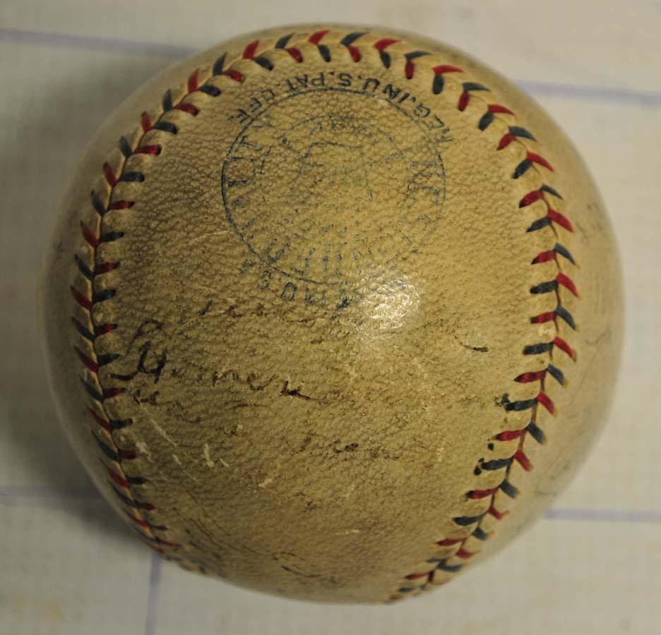 1929 Philadelphia World Champions Signed Baseball - 5