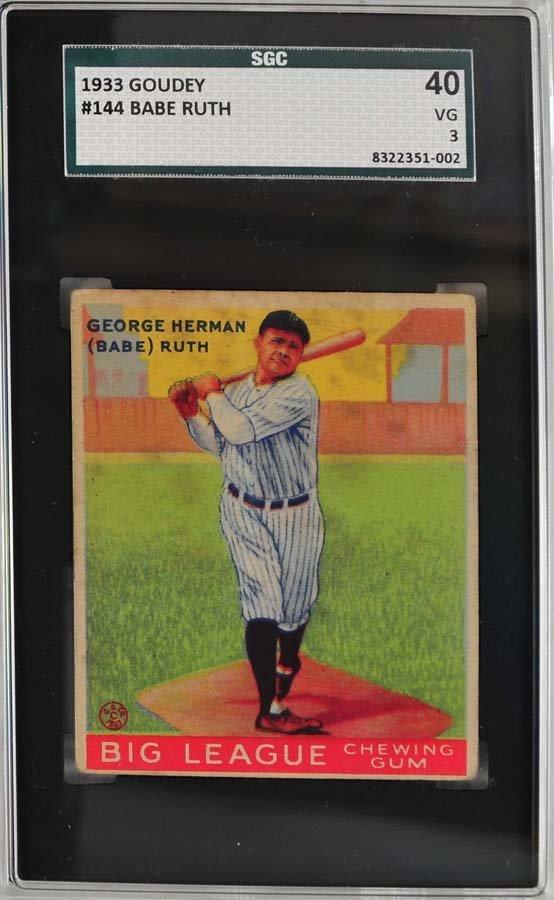 1933 Goudey Babe Ruth Card 144