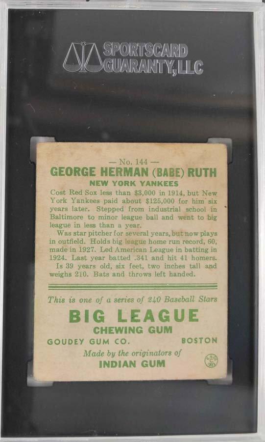 1933 Goudey Babe Ruth Card 144 - 2