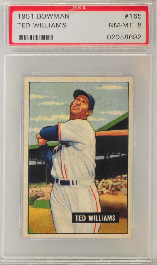 1951 Topps Ted Williams PSA Graded 8