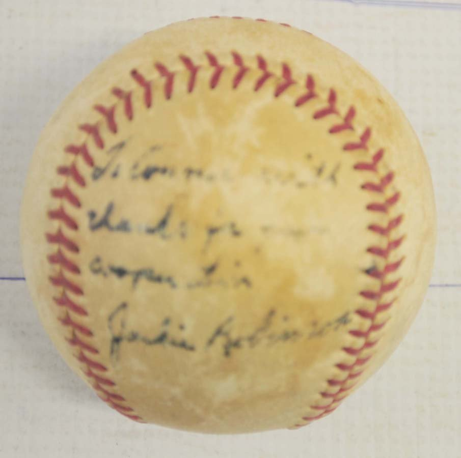Jackie Robinson Signed Baseball JSA LOA