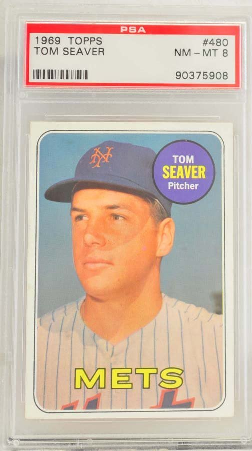 1969 Topps Tom Seaver Rookie PSA Graded 8