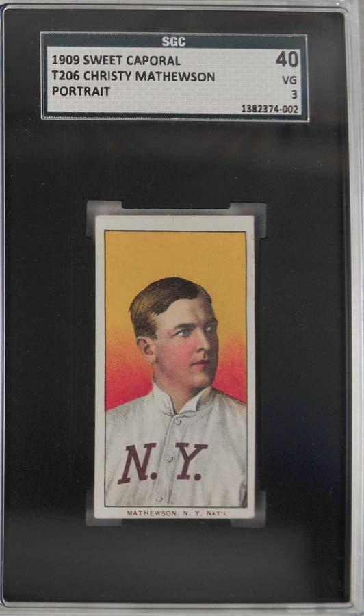 1909 T206 Christy Mathewson Portrait