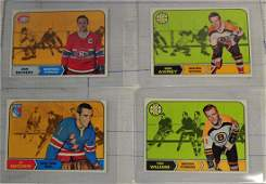 12 1968 Topps Hockey Cards Near Mint
