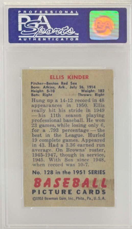 1951 Bowman Ellis Kinder PSA 7 - 2