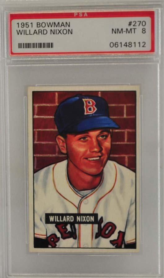 1951 Bowman Willard Nixon PSA 8